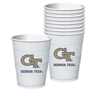 Georgia Tech Plastic Cup - 8 Ct - USA Party Store