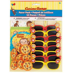 Curious George Favor Pack 48ct - USA Party Store