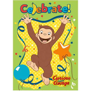 Curious George Invitations 8ct - USA Party Store