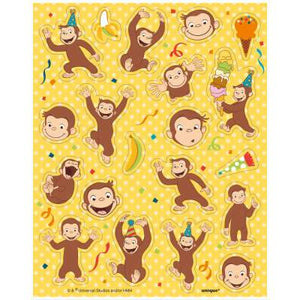 Curious George Sticker Sheets (4) - USA Party Store