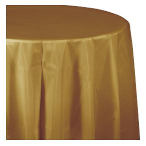 Plastic Round Table Cover - USA Party Store