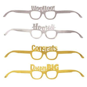 Graduation Foil Party Glasses 4ct - USA Party Store