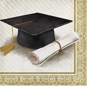 Classic Graduation Beverage Napkins - USA Party Store