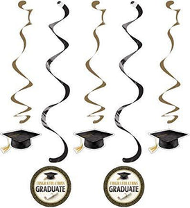 "Classic Graduation Dizzy Danglers  30"" and 39"" - USA Party Store"