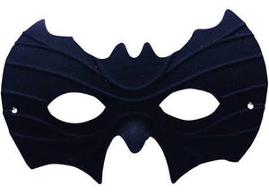 Halloween Half Mask - Bat, Black - USA Party Store