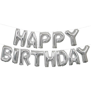 Foil Happy Birthday Letter Balloon Banner - USA Party Store