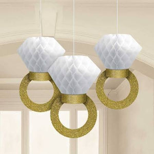 Honeycomb Ring Hanging Decorations - USA Party Store