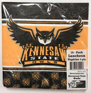 Kennesaw State Owls Napkins - 16 pack - USA Party Store