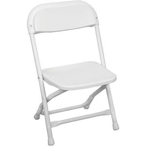 Rental - Kids Folding White Chair - USA Party Store