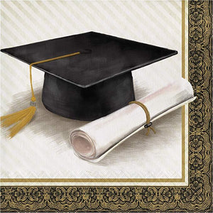 Classic Graduation Lunch Napkins - USA Party Store