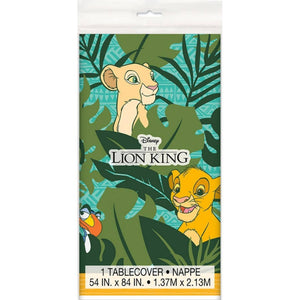 Lion King Plastic Tablecover - USA Party Store