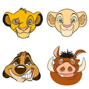 Disney Lion King Party Masks 8ct - USA Party Store