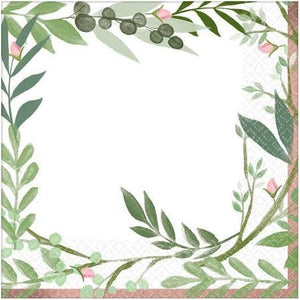 Love and Leaves Luncheon Napkins - USA Party Store