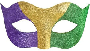 Mask Mardi Gras Glitter - USA Party Store