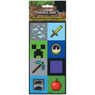 Minecraft  Lenticular Stickers 16 pieces - USA Party Store