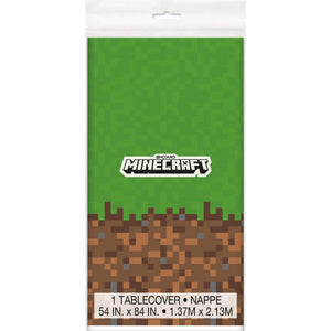Minecraft Plastic Table Cover 54 x 84in - USA Party Store