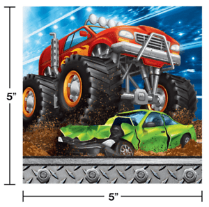 MONSTER TRUCK  LUNCH RALLY NAPKINS, 16 CT - USA Party Store