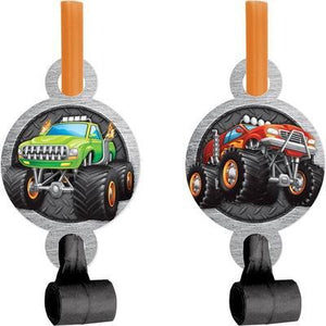 MONSTER TRUCK RALLY BLOWOUTS W/ MED, 8 CT - USA Party Store