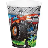 MONSTER TRUCK RALLY HOT/COLD PAPER PAPER CUPS 9 OZ., 8 CT - USA Party Store