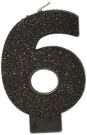 Glitter Black Number Birthday Candle - USA Party Store