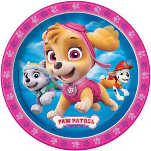 "Paw Patrol Girl Round 7"" Dessert Plates 8ct - USA Party Store"