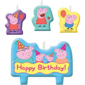 Peppa Pig Birthday Candle Set - USA Party Store