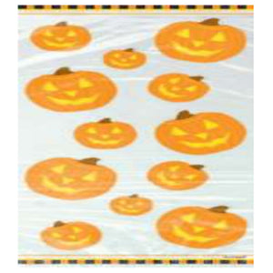Pumpkin Glow Cello Bags 20 CT - USA Party Store