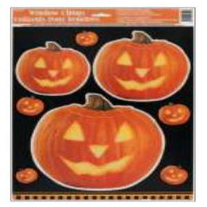 Pumpkin Glow Window  Cling 1 CT / 12 PK - USA Party Store