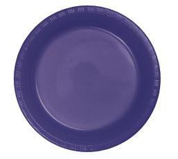 9 Inch - Lunch Plastic Plates - 20 Counts - usa-party-store