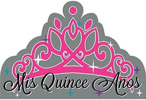 "Quinceanera Invitations - (8 Pack), Gray, 6 1/4"" x 4 1/4"". - USA Party Store"
