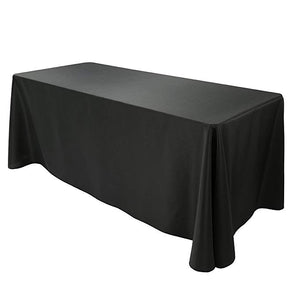 "Rental - Rectangular Polyester Tablecloth 60"" x 102"" - Black - USA Party Store"