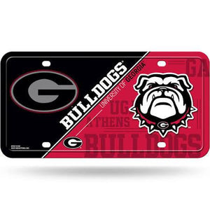 Rico Georgia Bulldogs Metal License Plate - USA Party Store