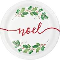 "Season's Greetings Plate 7"" - USA Party Store"