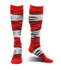 Dr Seuss Cat in the Hat Costume Socks Kids - USA Party Store