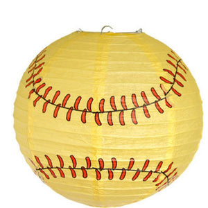 SoftBall Paper Lantern - USA Party Store