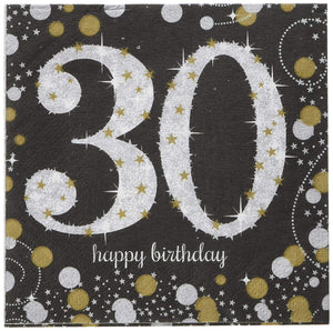 Sparkling Celebration Birthday Beverage Napkins - USA Party Store