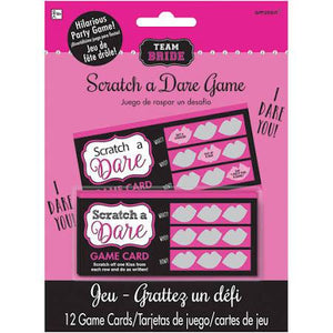 Team Bride Scratch A Dare Game - USA Party Store