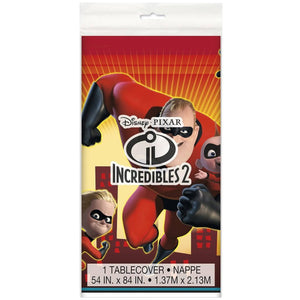 The Incredible 2 Movie Plastic Table Cover - USA Party Store