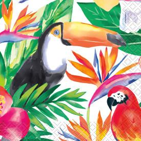Palm Tropical Luau Beverage Napkins, 16ct - USA Party Store