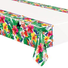 "Palm Tropical Luau Rectangular Plastic Table Cover, 54""x84"" - USA Party Store"