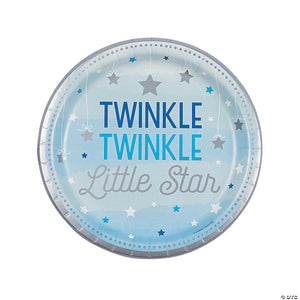 "Twinkle twinkle Little Star Blue Plate 9"" - USA Party Store"