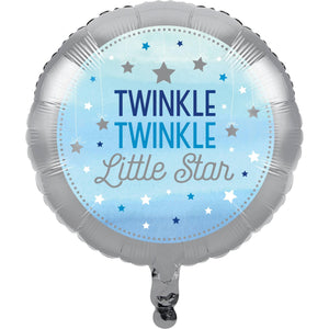 Blue Twinkle Little Star Balloon - USA Party Store