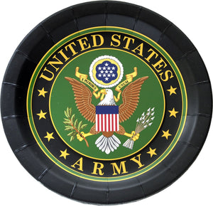 "US Army Dinner Party Plates 9"" - 8 Count - USA Party Store"