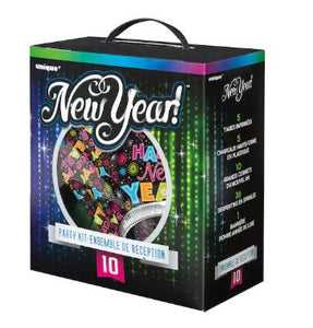 New Year's Eve Party Supplies Kit for 10 - USA Party Store