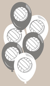 Volleyball Balloon Latex 6pk - USA Party Store