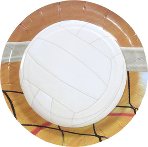"Volleyball Plate 7"" - USA Party Store"
