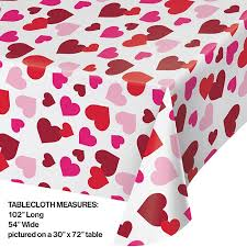 Watercolor Hearts Tablecover