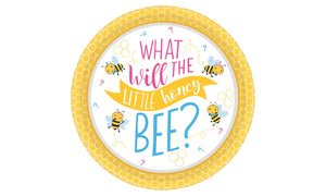 What Will It Bee? Baby Shower Paper Disposable Appetizer Plate - USA Party Store