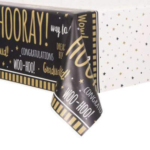 "You Did It! Graduation Rectangular Plastic Table Cover 54""x84"" - USA Party Store"