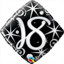 "Elegant Sparkle Swirl Balloon 18"" - USA Party Store"